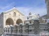 basilica innevata di San Michele Arcangelo in Monte Sant\'Angelo