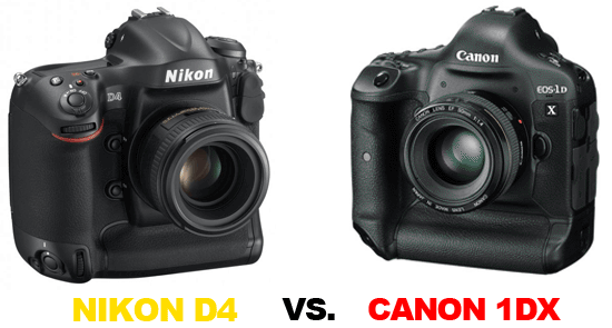 Confronto Nikon D4 vs Canon 1Dx