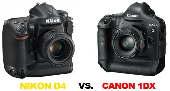 Confronto Nikon D4 vs Canon 1Dx