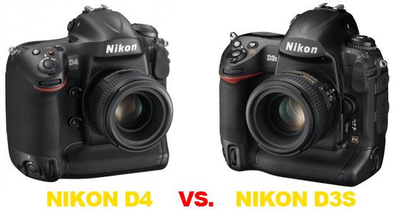 Confronto Nikon D3s vs Nikon D4