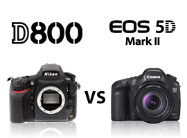 Confronto Nikon D800 vs Canon EOS 5D Mark II