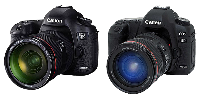 Confronto Canon 5D Mark III vs 5D Mark II