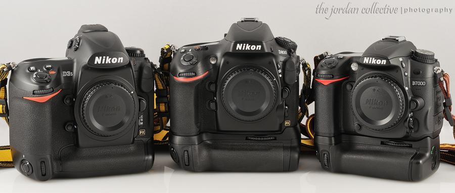Nikon D800 vs. D3s e D7000