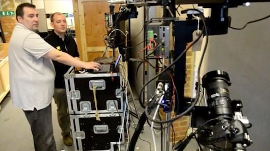 Robot per le olimpiadi equipaggiato con Nikon D4