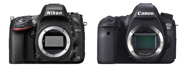 Confronto Nikon D600 vs Canon 6D